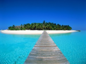 Maldives representing content destination