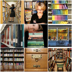 content curation resources as visualized by various images of library books