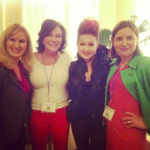 CMOs drawing inspiration from an artist who's embraced change. (L-R) Katrina Klier, Stephanie Anderson, Cyndi Lauper and Margaret Molloy.