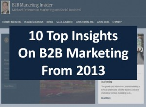10 Top Insights On B2B Marketing From 2013