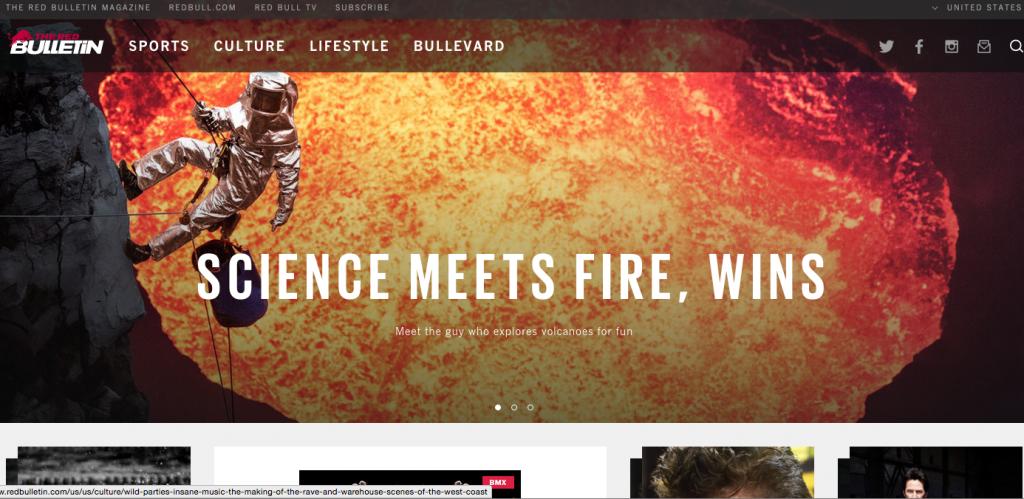 Red Bull RedBulletin content hub