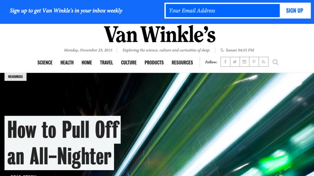 Casper's VanWinkles.com