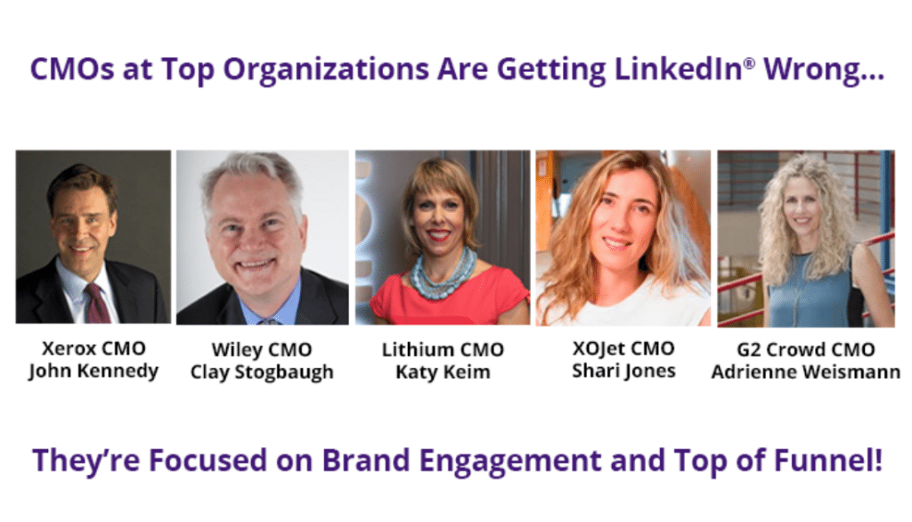 CMOs fail to go beyond brand awareness on LinkedIn