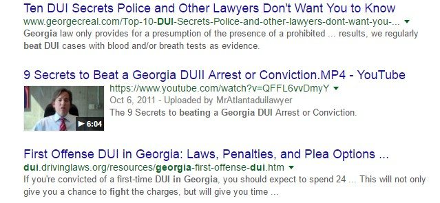 SEO-driven Content Marketing: Beat a DUI in Georgia