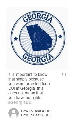 Pinterest Post on How to Beat DUI in Georgia