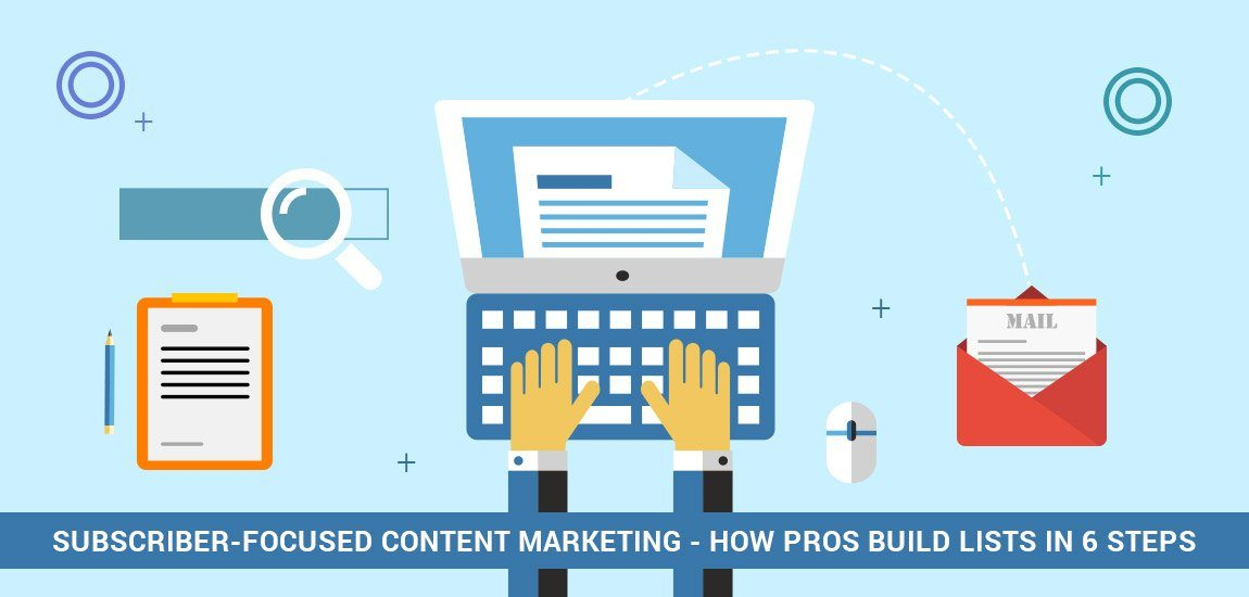 Subscriber-Focused Content Marketing: How Pros Build Lists in 6 Steps