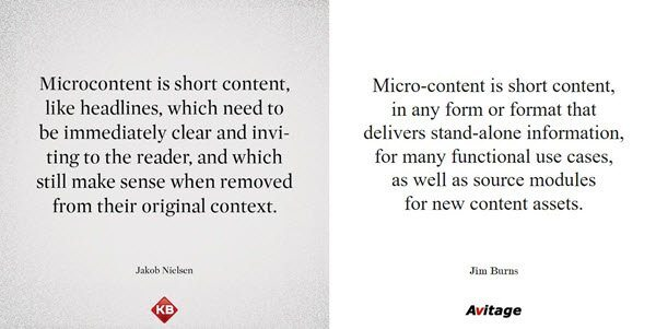 Micro-content — the most important content type you don't manage