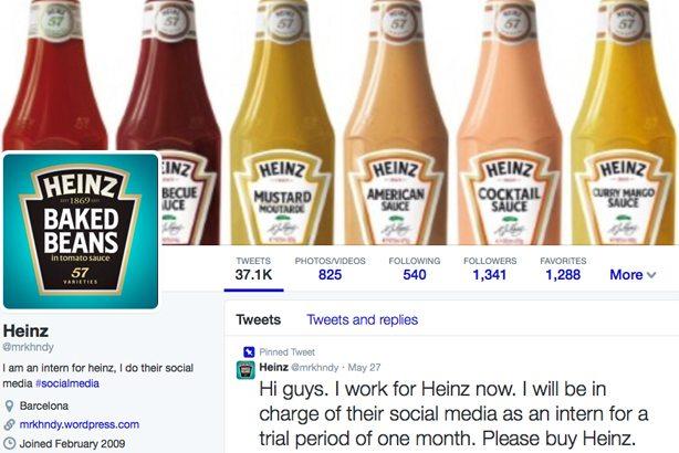 Heinz twitter