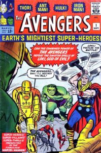 First issue of Avengers, when did the first issue of The Avengers #1 come out, first issue of Avengers was released in Sept. 1963