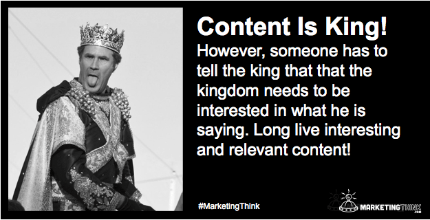 Content Is King Only When The Kingdom Is Interested