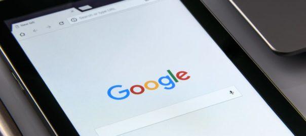 ipad image of google search bar