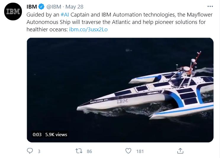 IBM Twitter post example